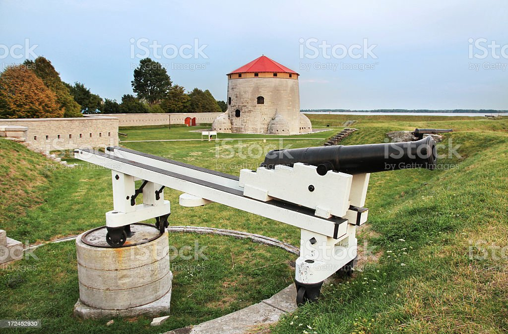 Frederick Tower and Cannon, Kingston ON royalty-free stock photo