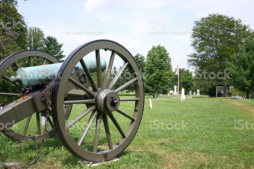Fredericksburg, Virginia Civil War cannon stock photo