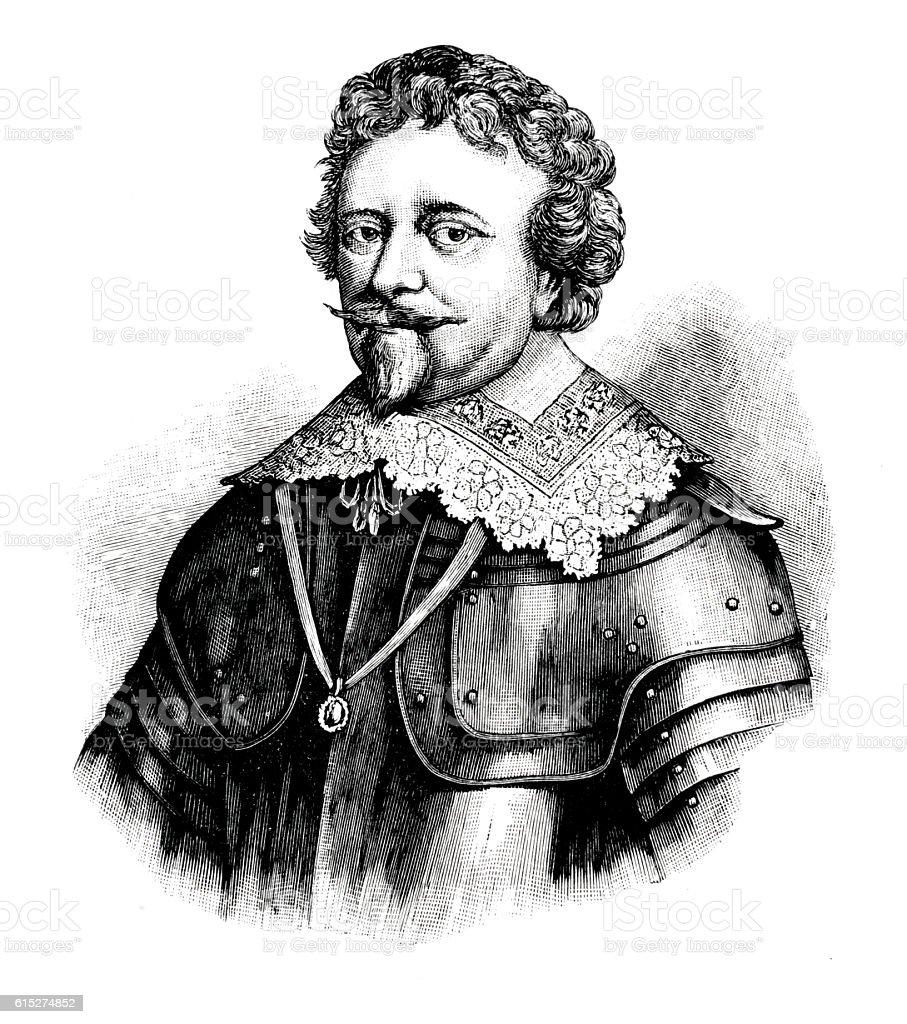 Frederik Hendrik Prince of Orange stock photo
