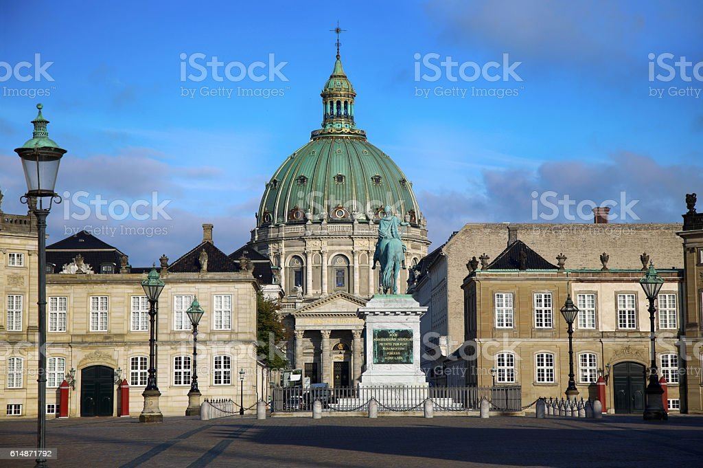 Frederik's Church (Danish: Frederiks Kirke) in Copenhagen, Denmark stock photo