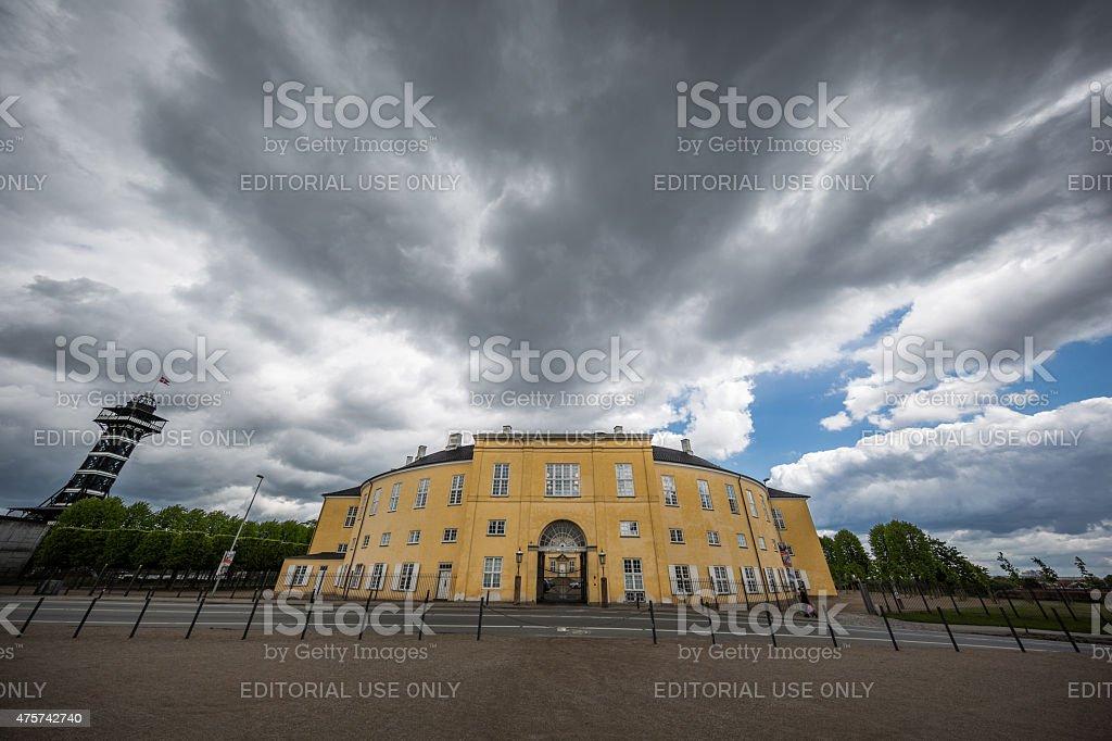 Frederiksberg Slot - Palace - in Copenhagen, Denmark stock photo