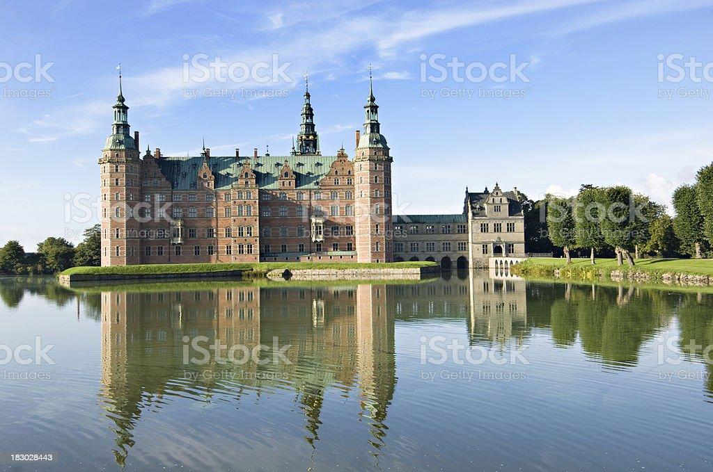 Frederiksborg Castle and Gardens, Hillerød Denmark. stock photo