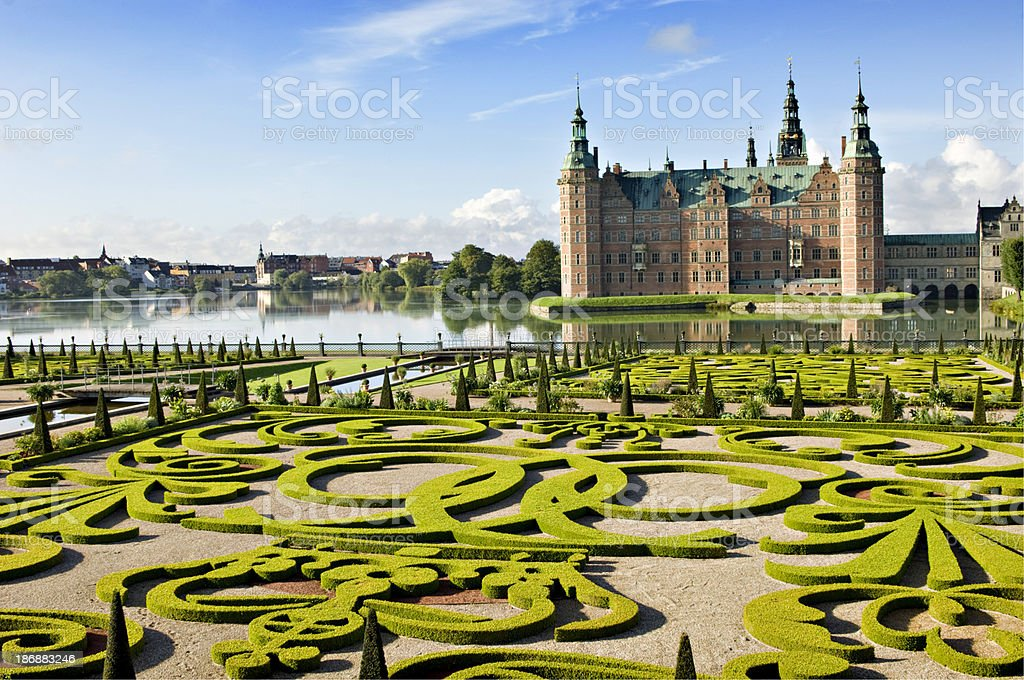 Frederiksborg Castle and Gardens, Hillerød Denmark. royalty-free stock photo