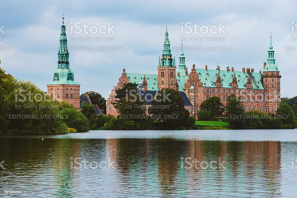 Frederiksborg Castle in Copenhagen, Denmark stock photo