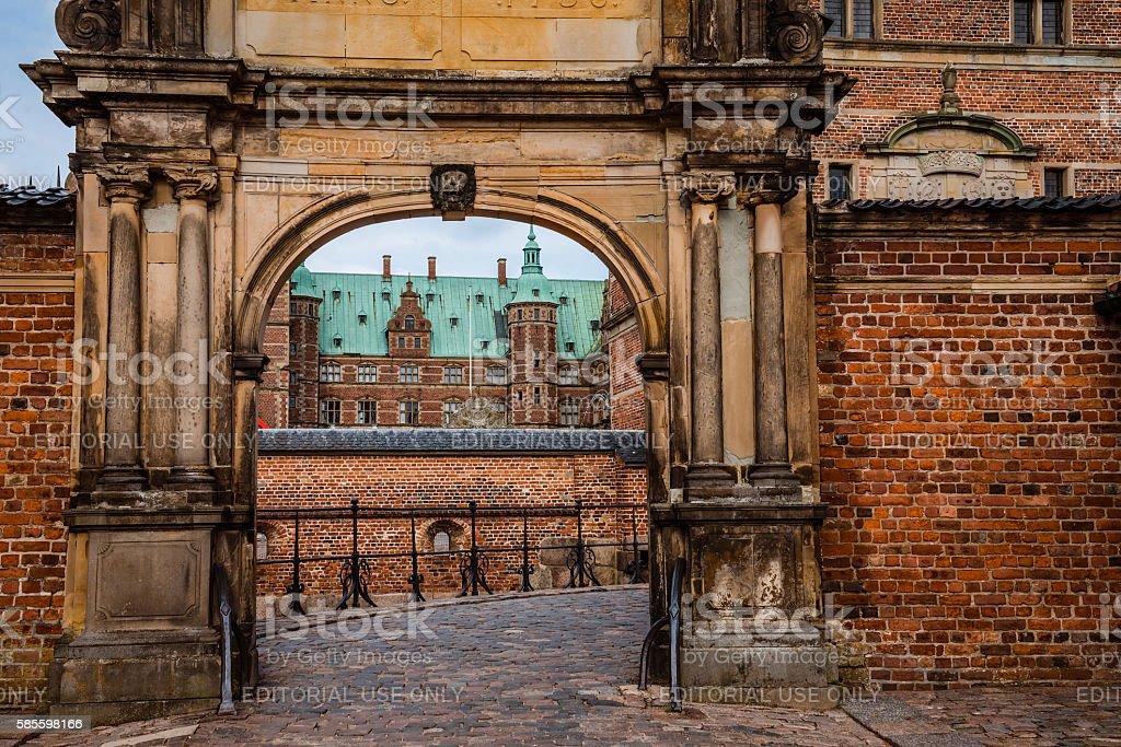 Frederiksborg castle in Copenhagen stock photo
