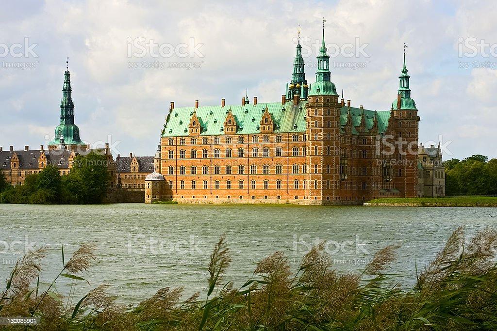 Frederiksborg castle in Denmark stock photo