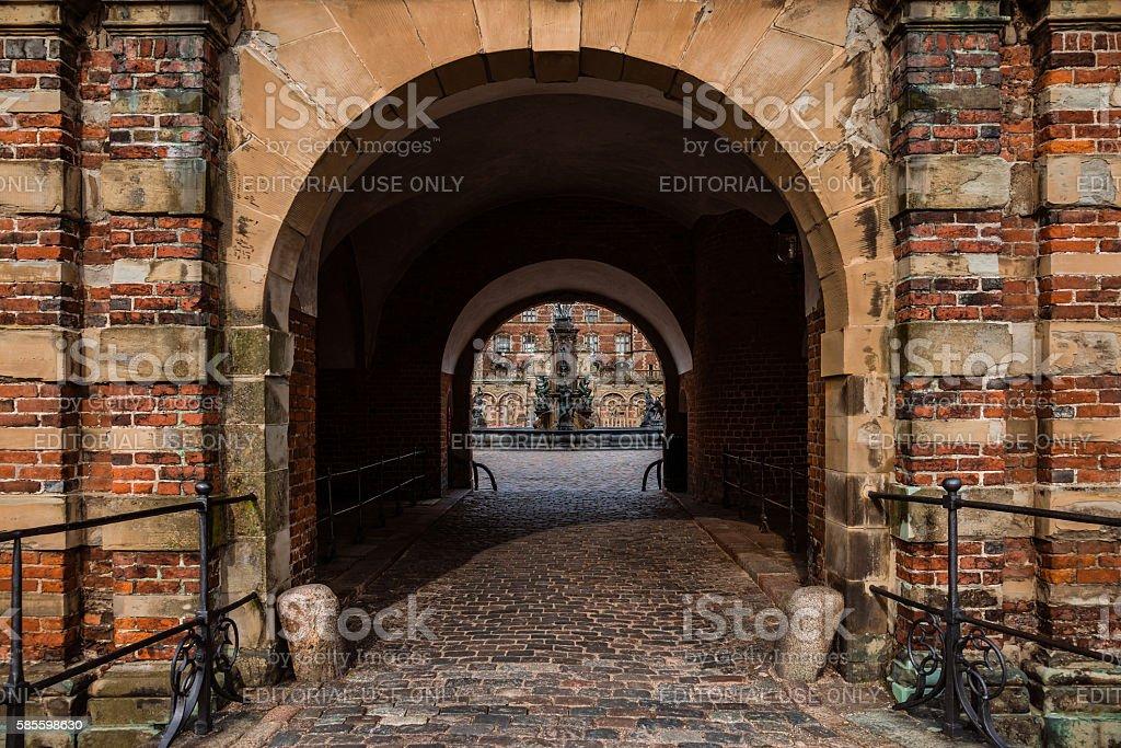 Frederiksborg Castle in Hillerod, Denmark stock photo