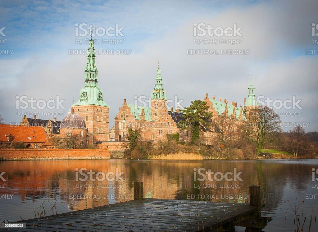Frederiksborg Castle scenic shot stock photo