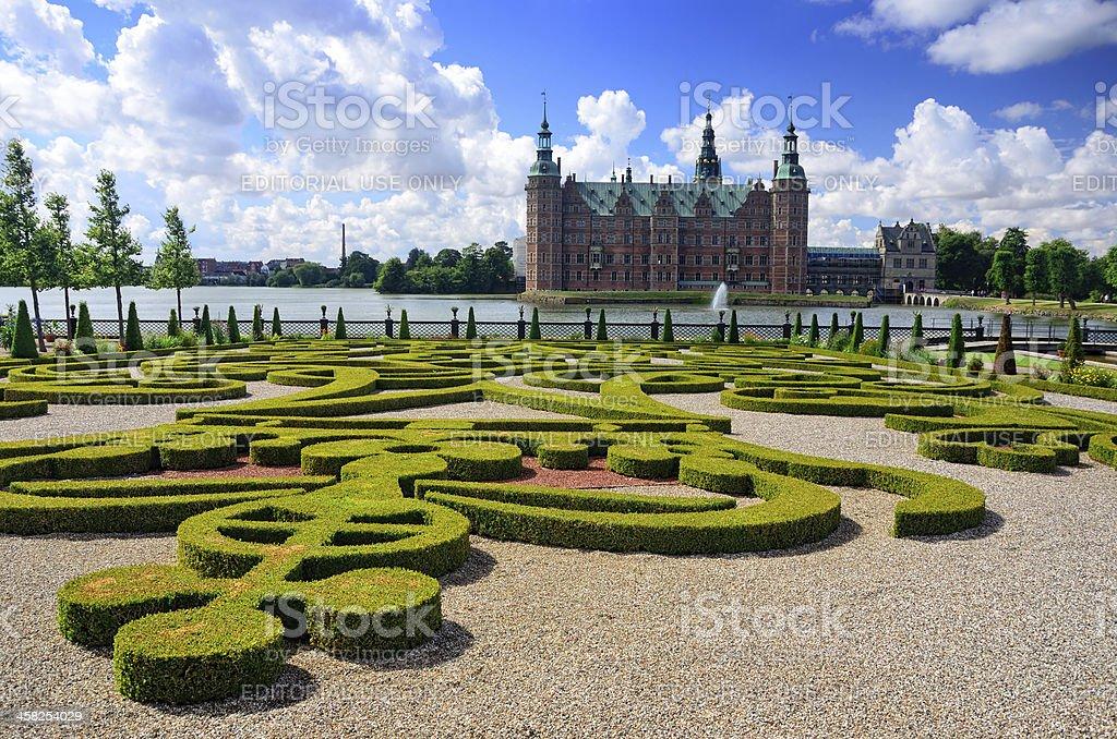 Frederiksborg Garden stock photo