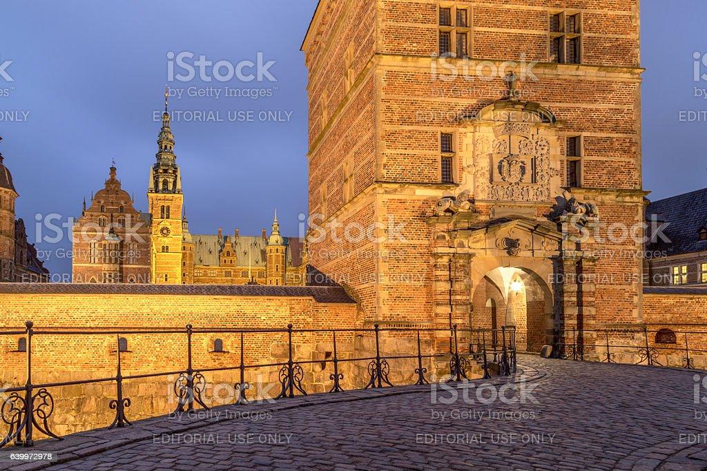 Frederiksborg Palace in Hillerod, Denmark stock photo