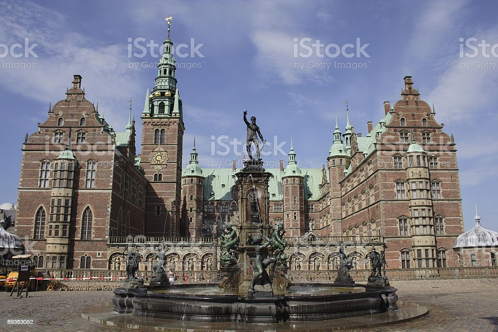 Frederiksborg Slot Royal Palace stock photo