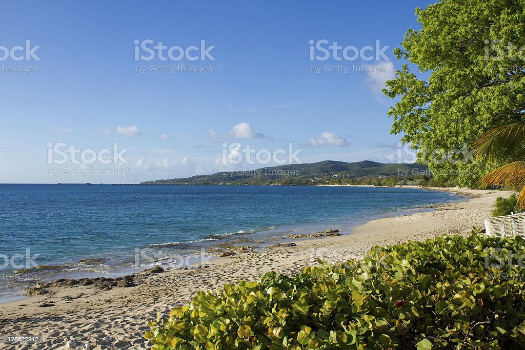 Frederiksted beach on St Croix stock photo