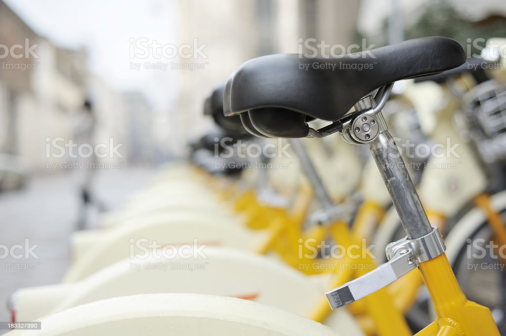Free Access Bicycles Available for Use stock photo