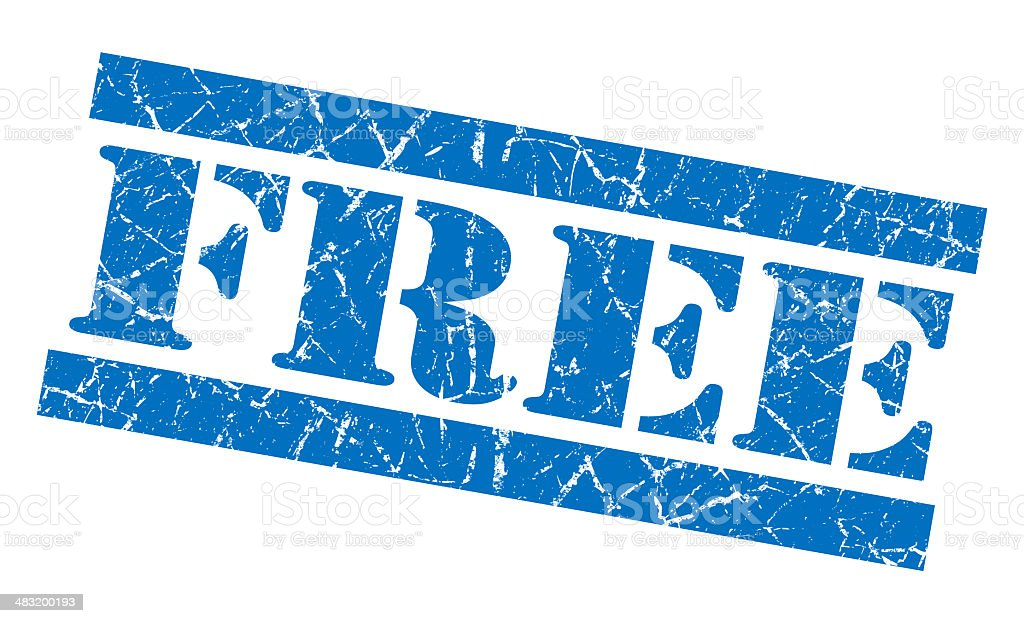 Free blue grunge stamp royalty-free stock photo