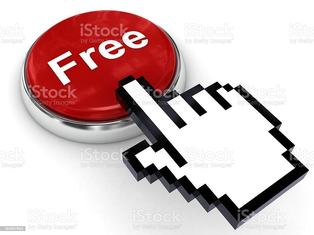 Free Button royalty-free stock photo