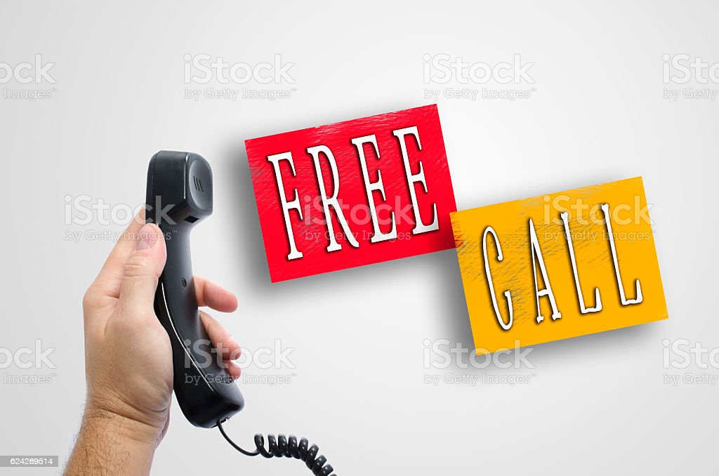 Free call concept stock photo