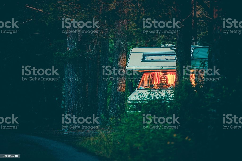 Free Camping Boondocking stock photo