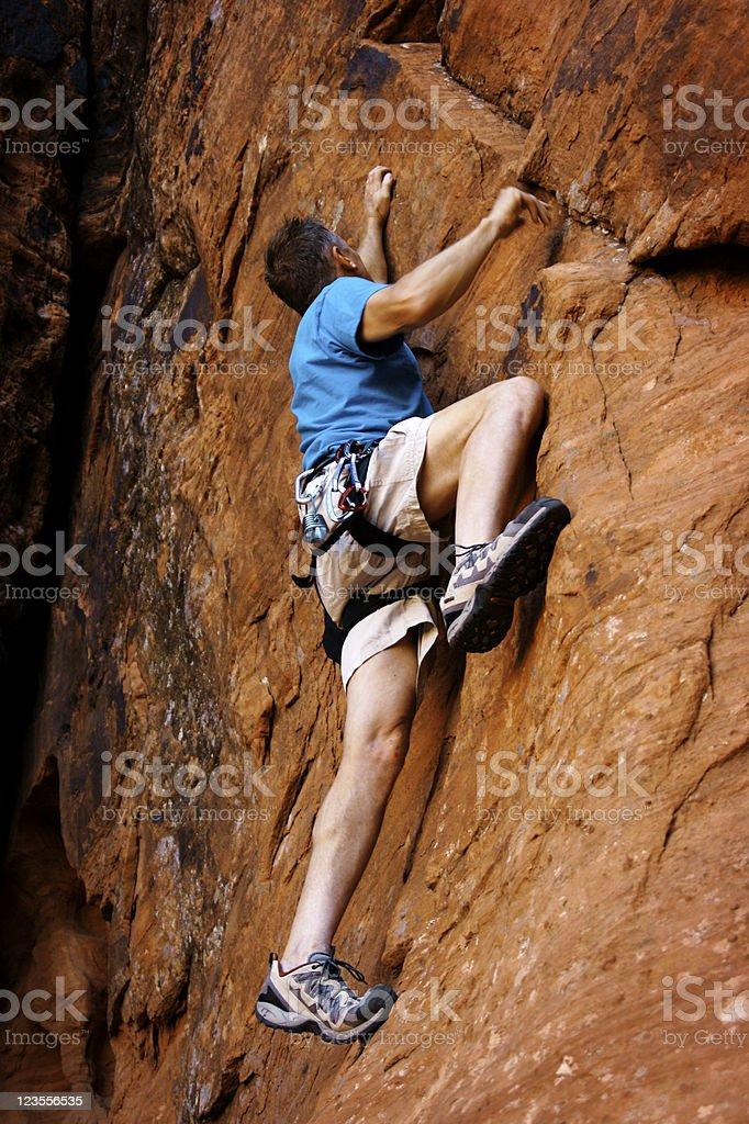 Free Climbing royalty-free stock photo