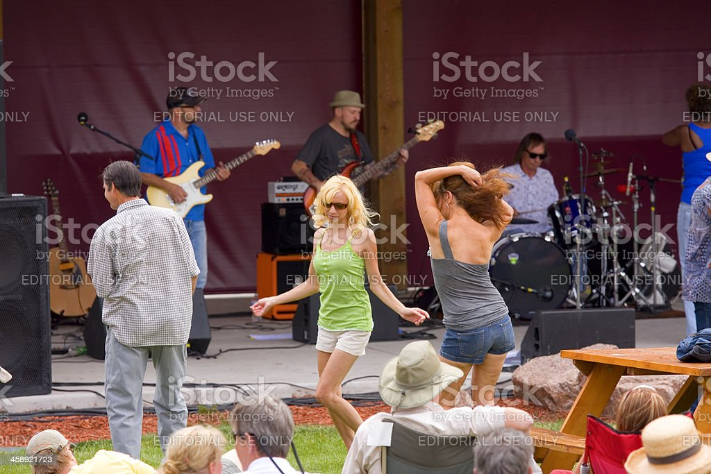 Free Concert Woodland Park Colorado Library royalty-free stock photo