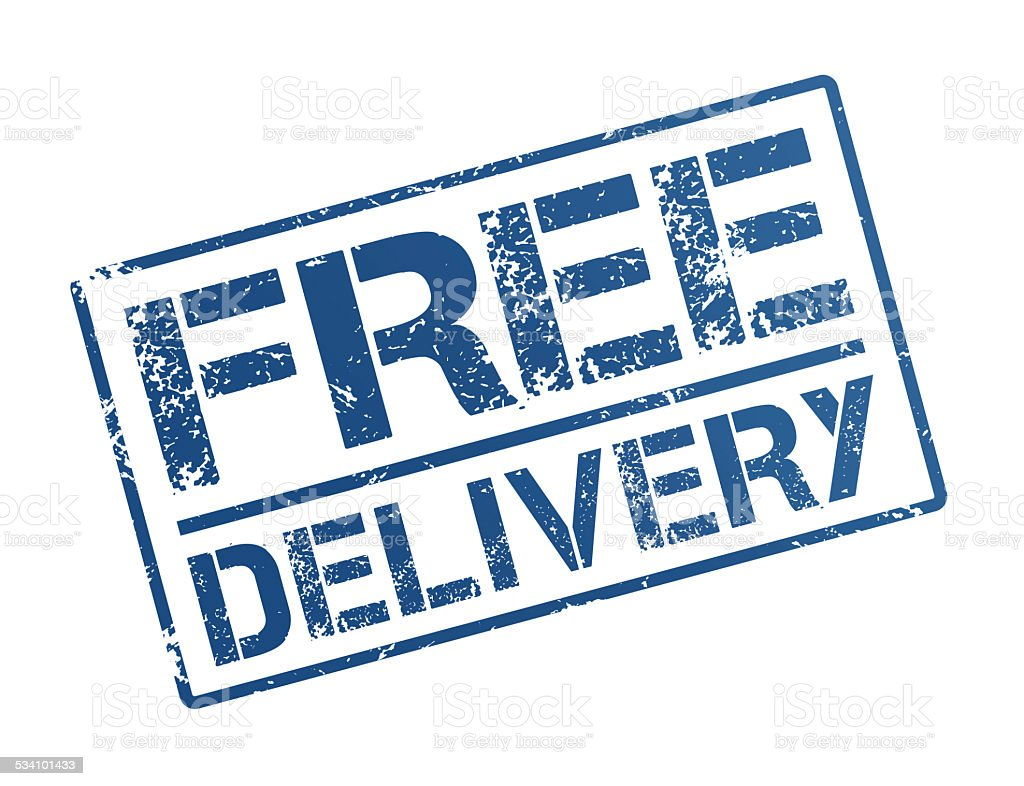 Free delivery stock photo