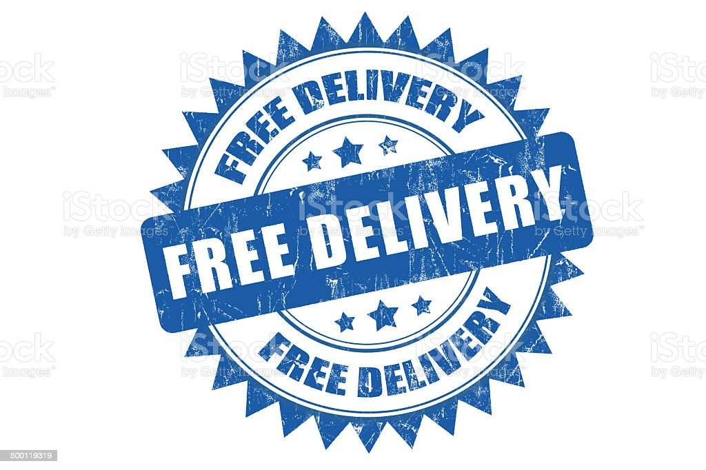 Free Delivery Rubber Stamp stock photo