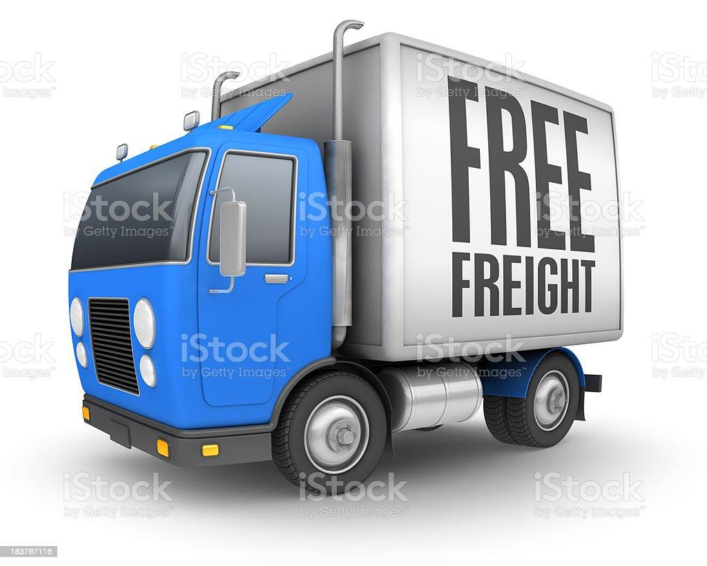 free freight royalty-free stock photo