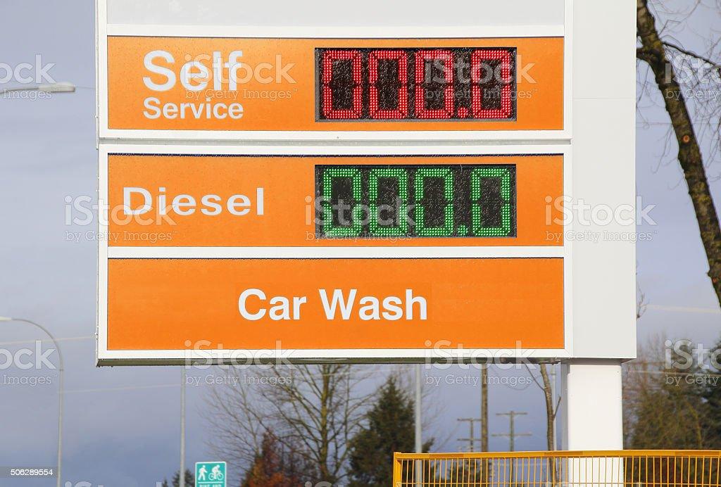 Free Gas, Cheap Fuel stock photo