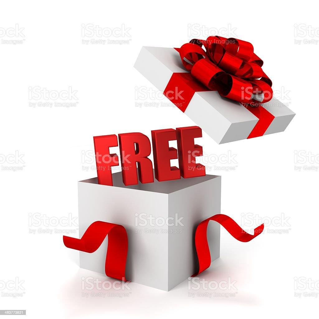 free giftbox royalty-free stock photo