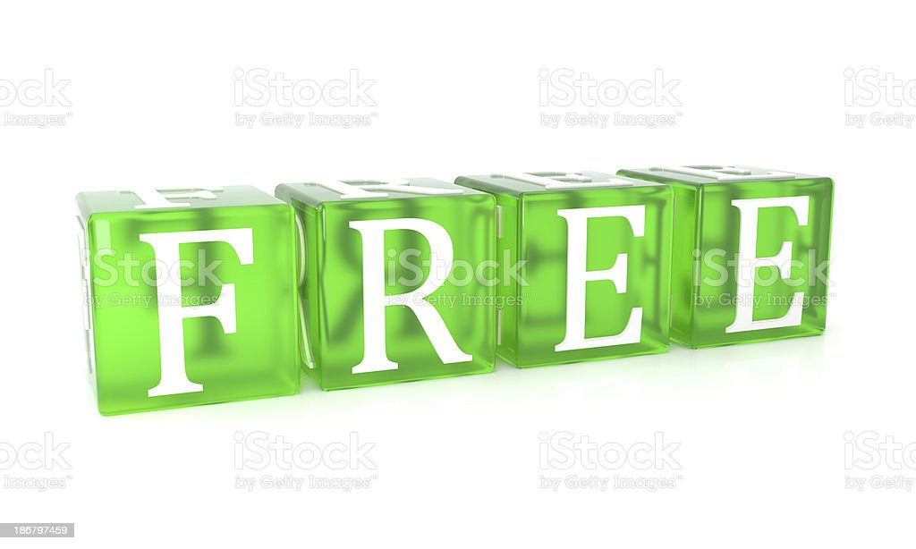 free - green cubes royalty-free stock photo