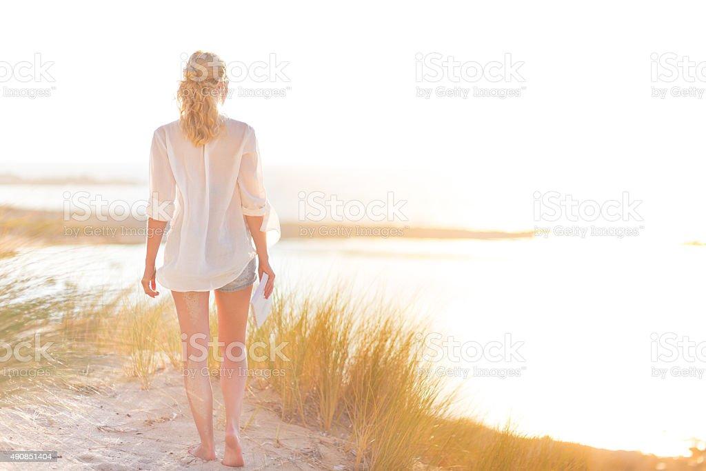Free Happy Woman Enjoying Sun on Vacations. stock photo