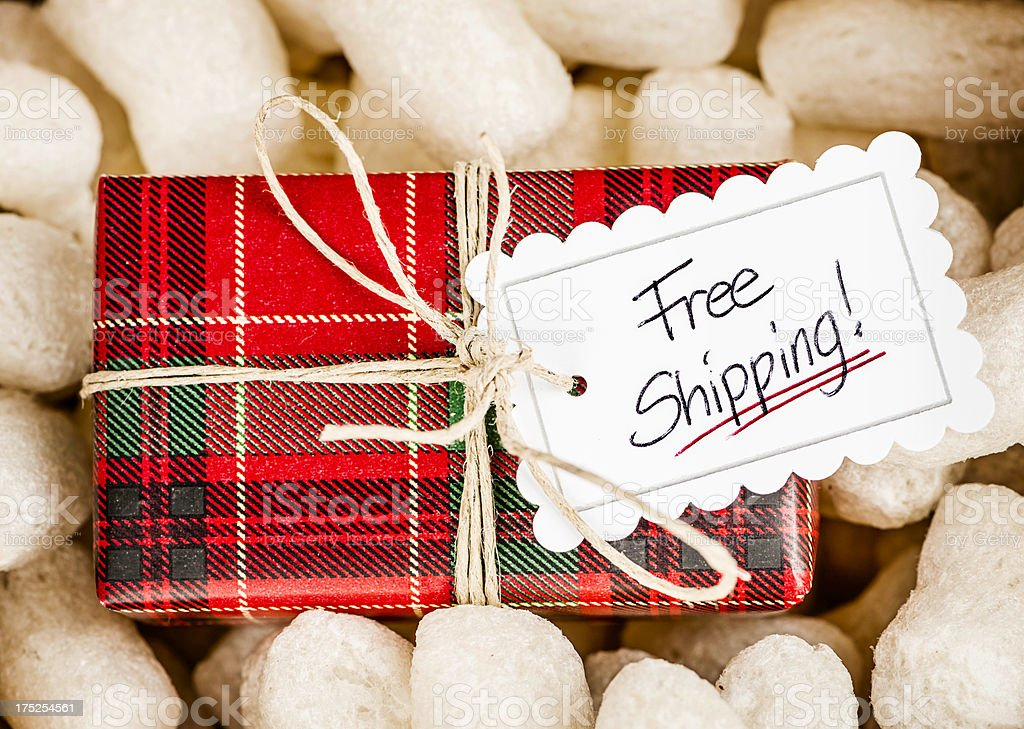 Free Holiday Shipping stock photo