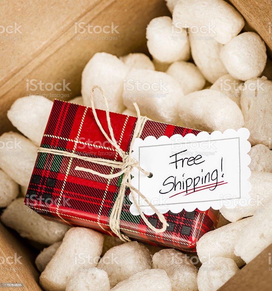Free Holiday Shipping stock photo