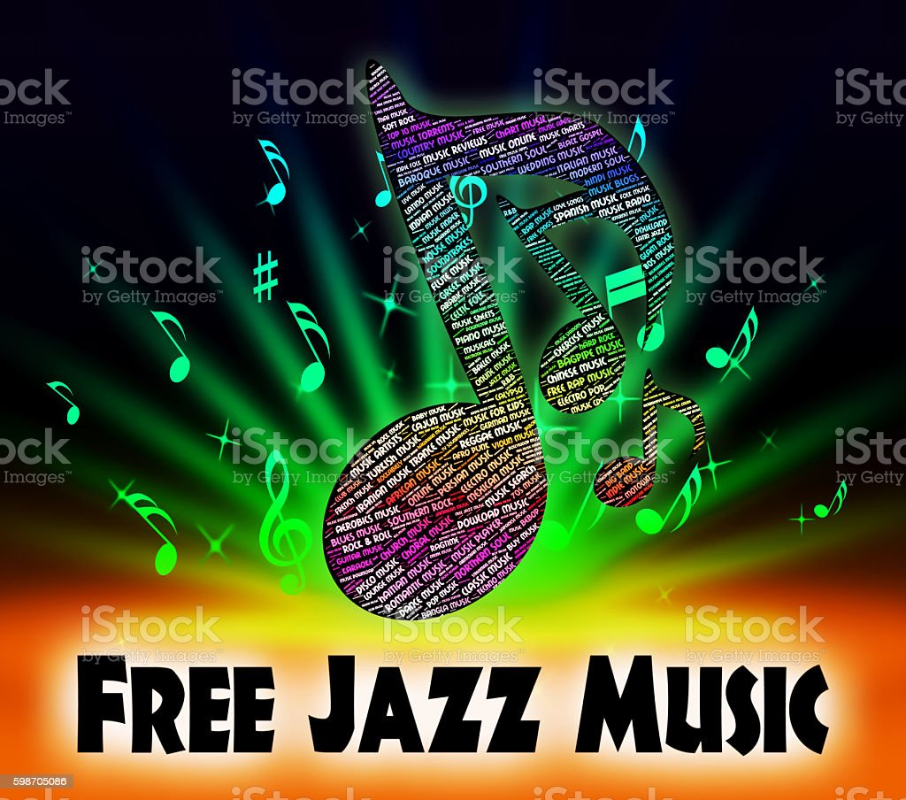 Free Jazz Music Indicates No Charge And Acoustic stock photo