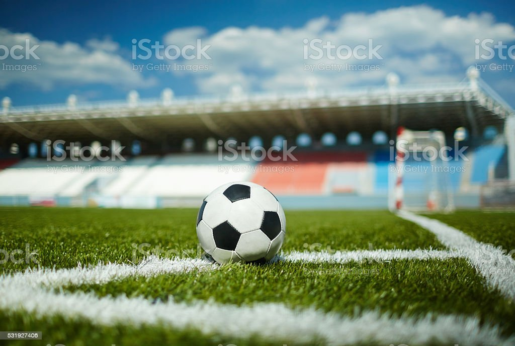 Free kick stock photo