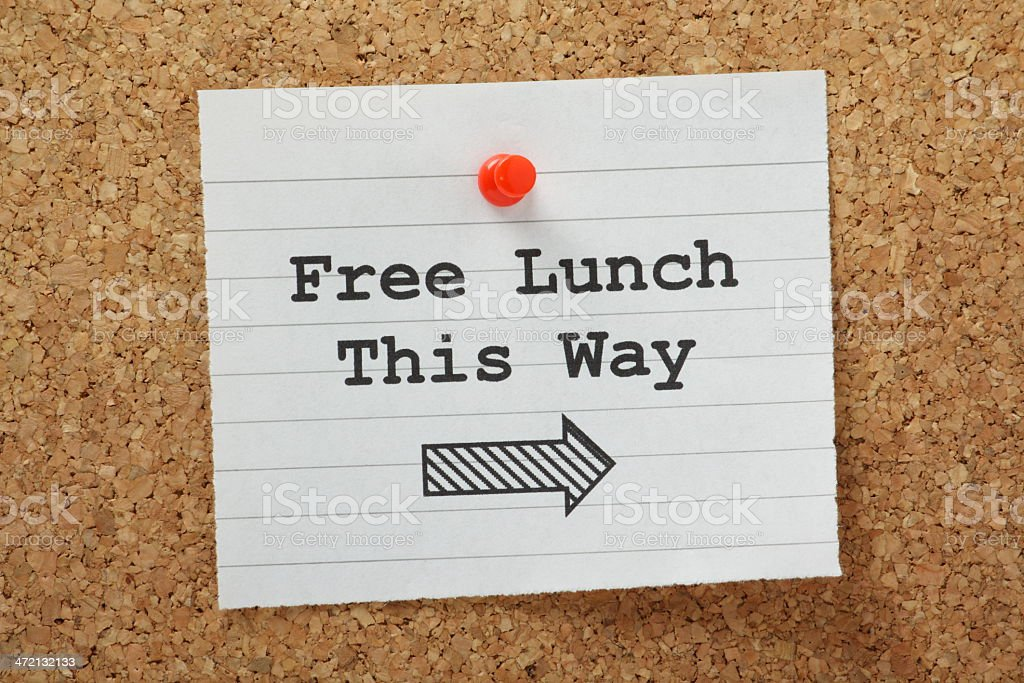 Free Lunch This Way stock photo