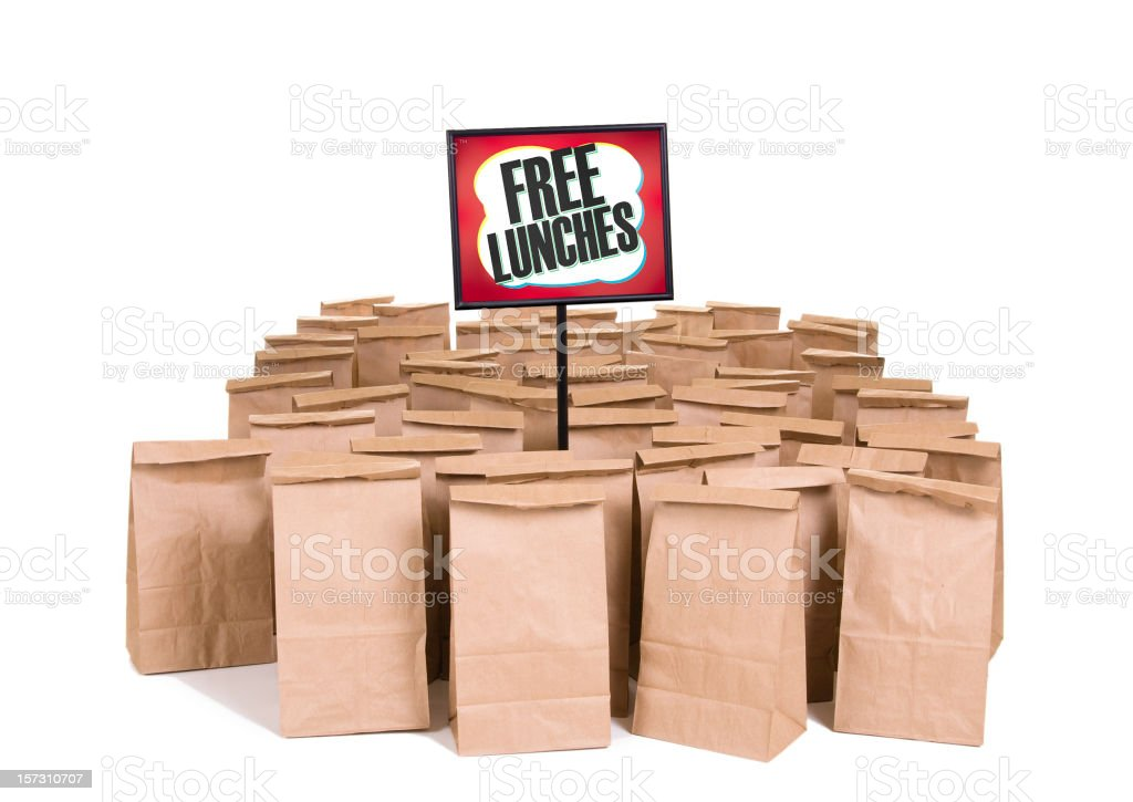 Free Lunches royalty-free stock photo