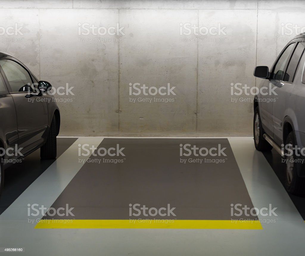 free parking space stock photo
