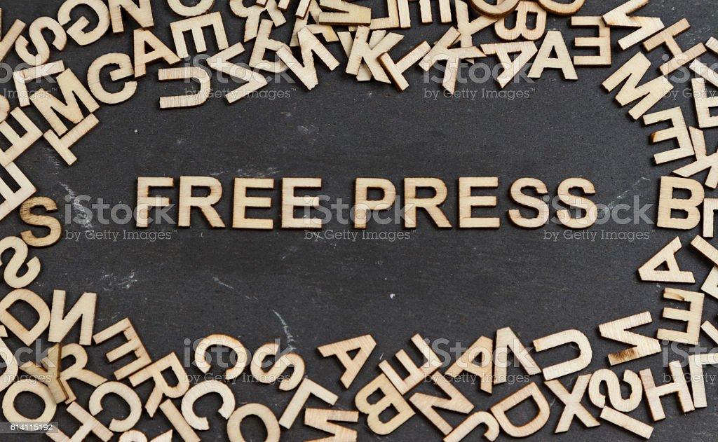 Free Press stock photo