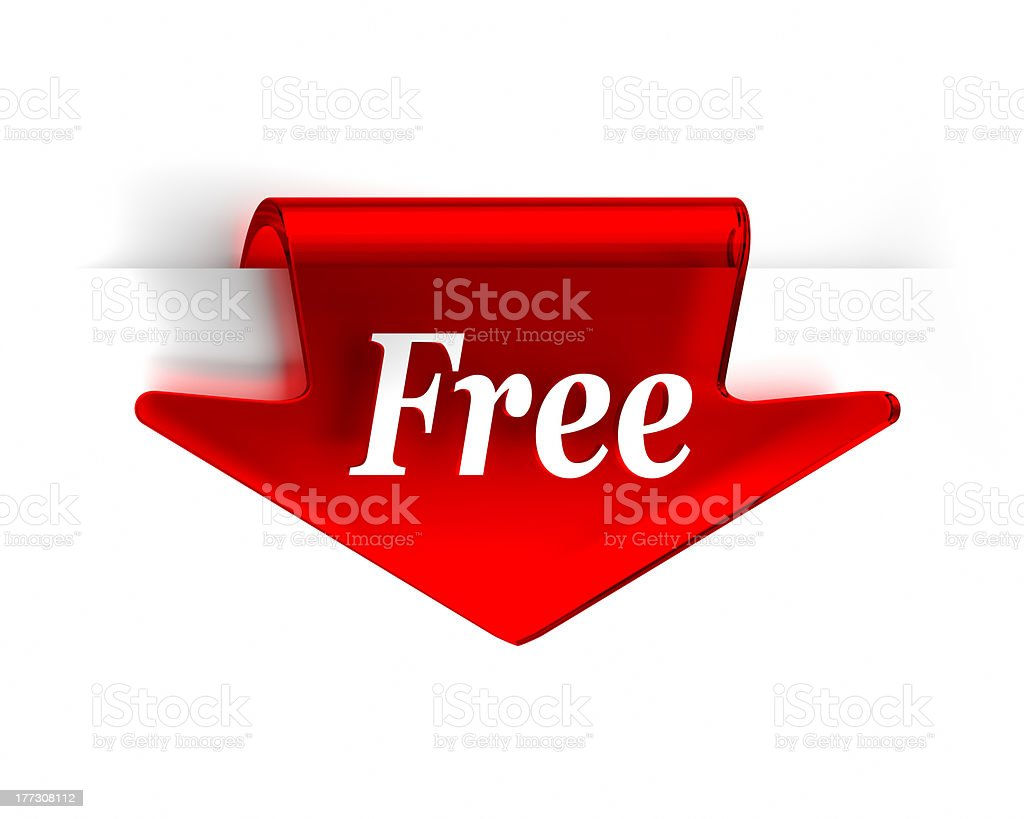 Free Red Arrow royalty-free stock photo