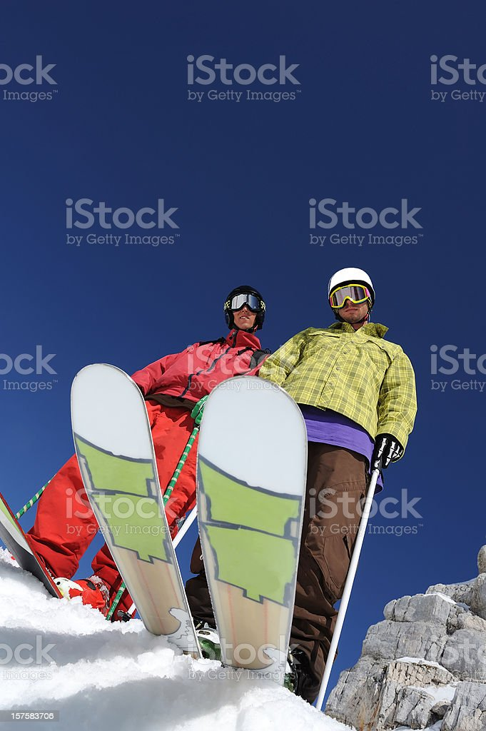 Free riders ready for start royalty-free stock photo