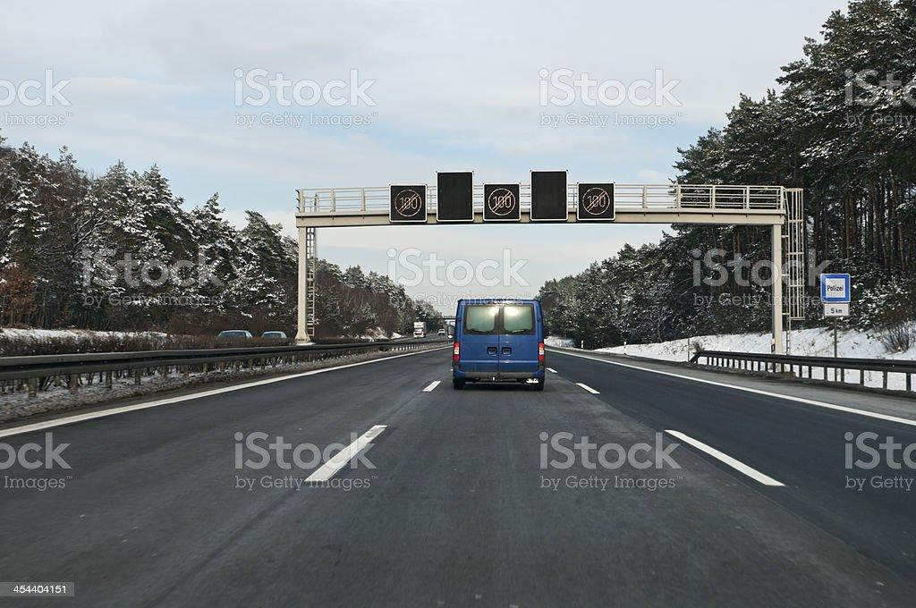 Free rides on a German motorway royalty-free stock photo
