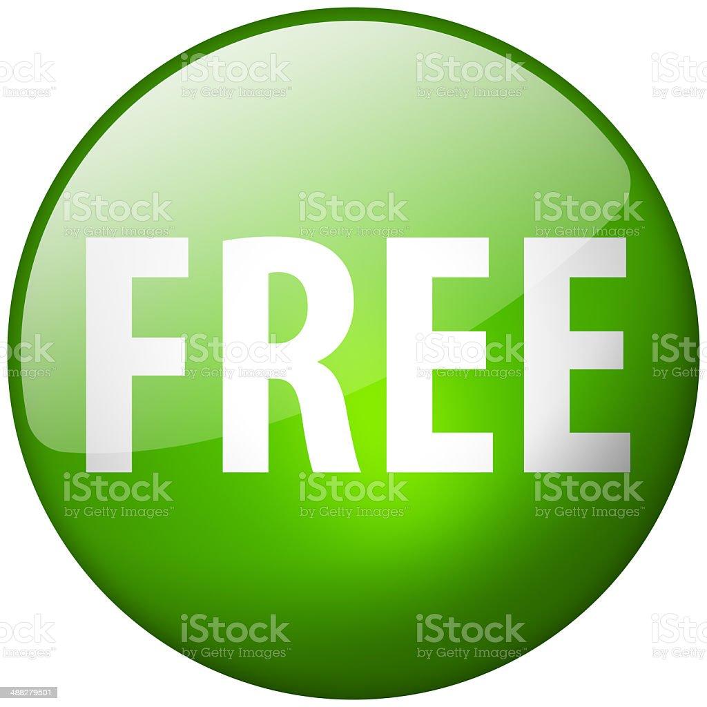 Free Round Green Glass Shiny Button stock photo