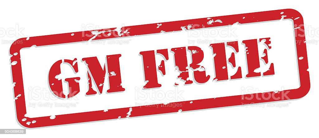 GM Free Rubber Stamp stock photo