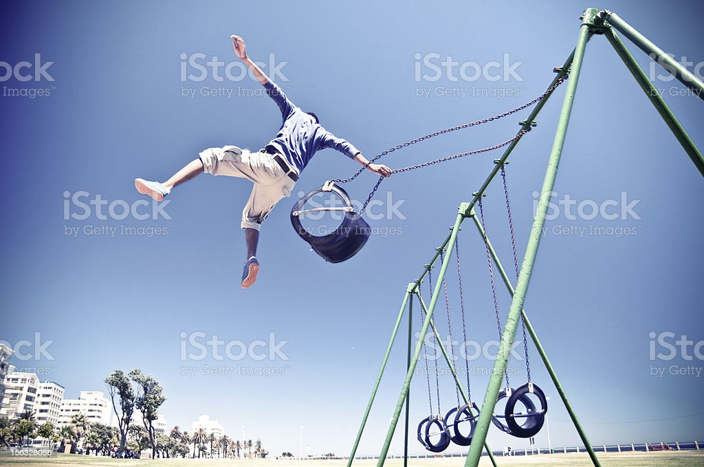 Free Running Parkour Cape Town stock photo