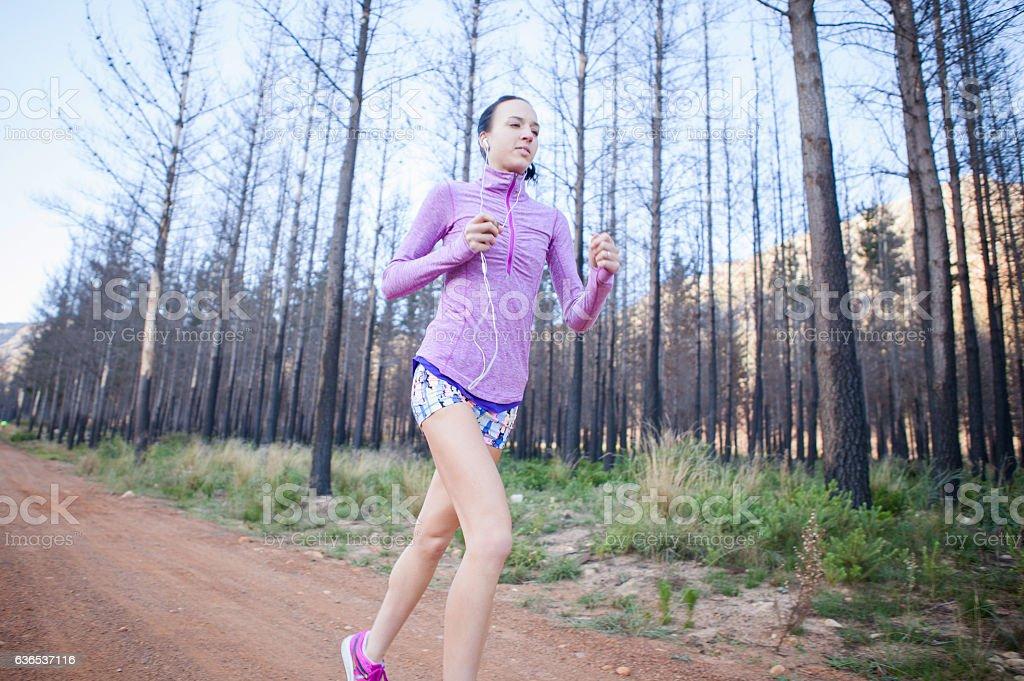 Free running! stock photo