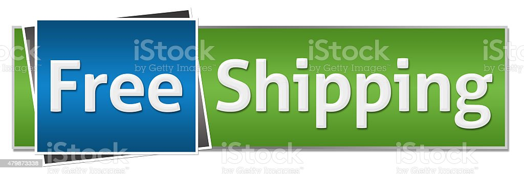 Free Shipping Green Blue Horizontal stock photo