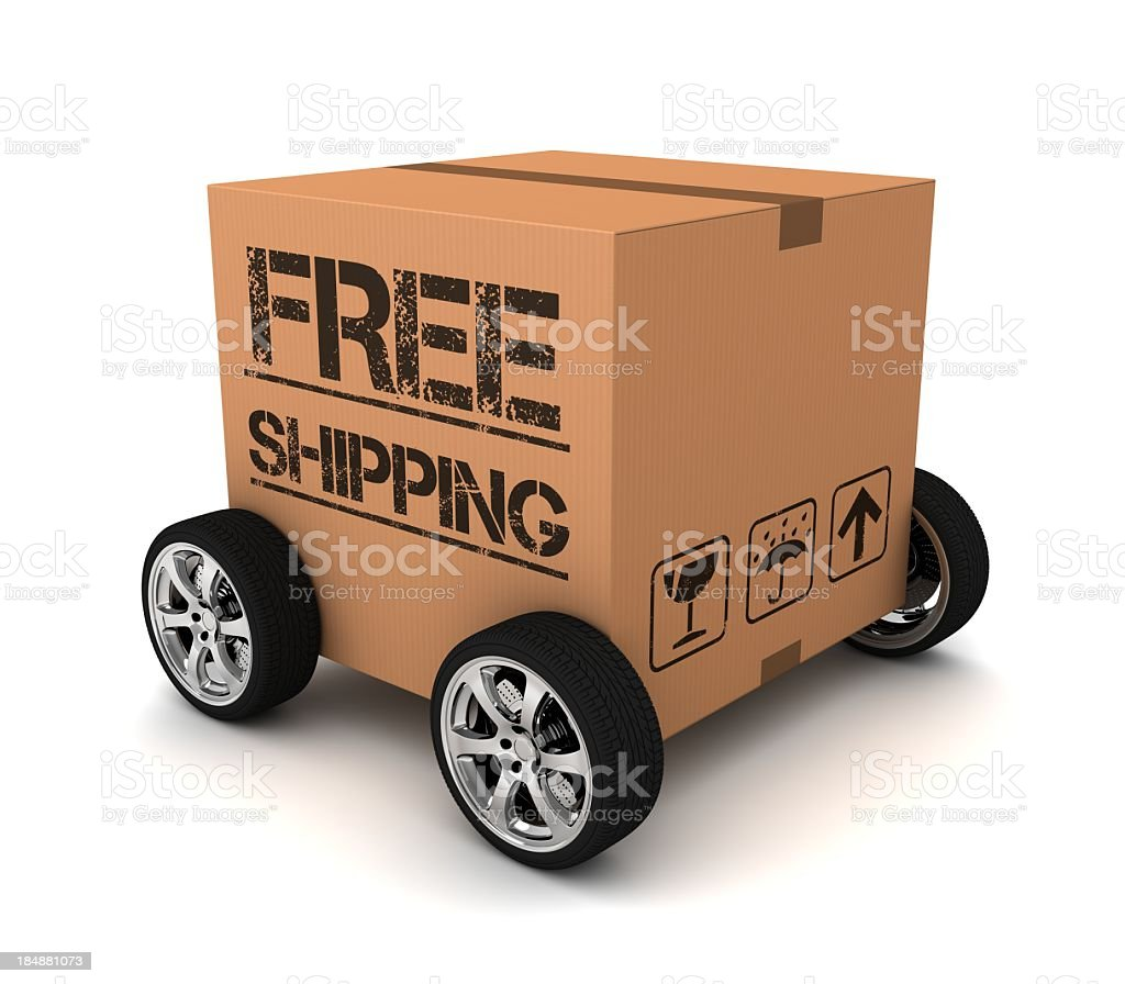 Free shipping is fast! royalty-free stock photo