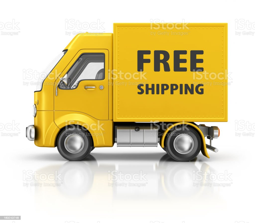 free shipping royalty-free stock photo