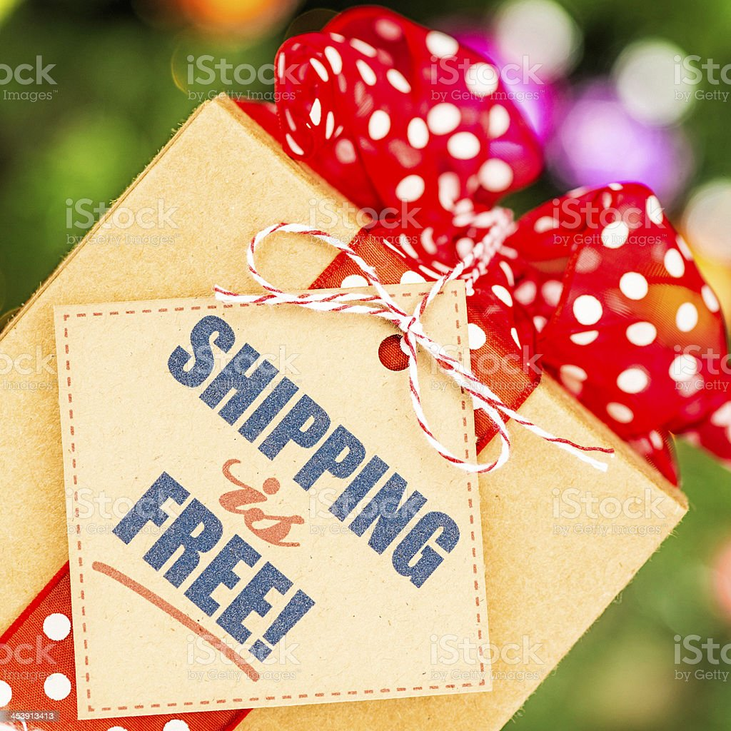 Free Shipping Promotion stock photo