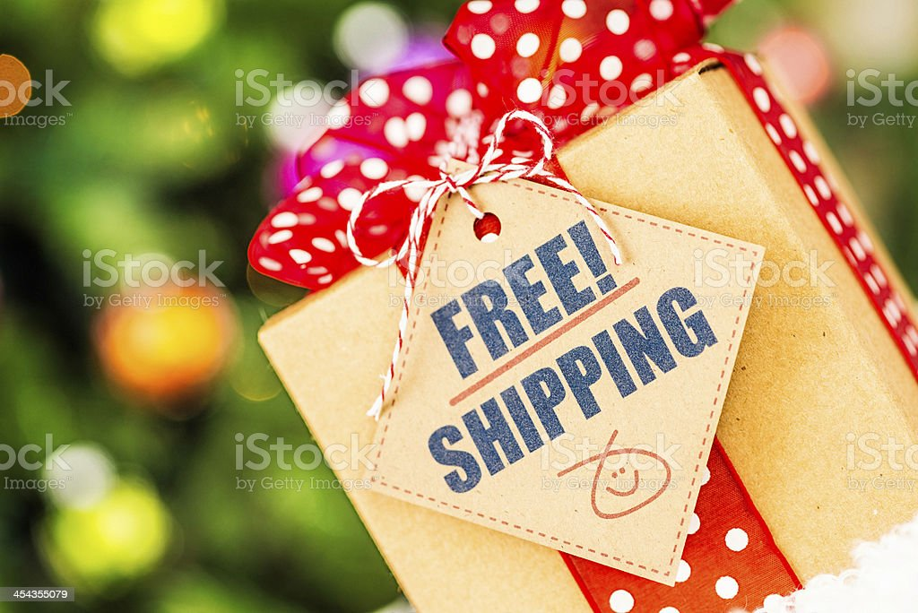 Free Shipping Promotion royalty-free stock photo